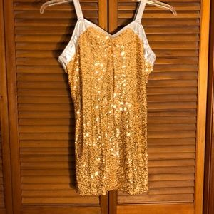 Other - Girls Sequins Gold with Sliver Trim Dance Costume
